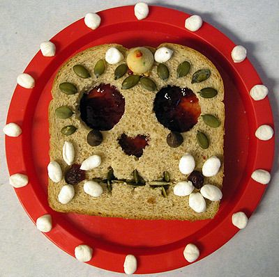 Peanut butter and jelly sugar skull!