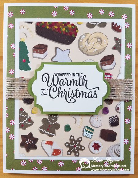 Christmas Card made with Stampin' Up! products. Christmas Around ...