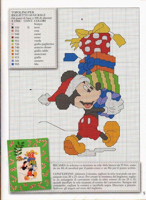 ♥Meus Gráficos De Ponto Cruz♥   Mickey e Donald Natal   Pinterest ...