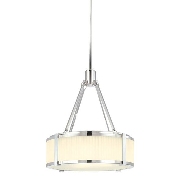 Off Roxy Small Polished Nickel Drum Pendant by SONNEMAN. @ Etched fluted glass @ Includes three stems and one stem  sc 1 st  Pinterest & Roxy 16 inch Pendant by Sonneman - http://www.lightopiaonline.com ... azcodes.com