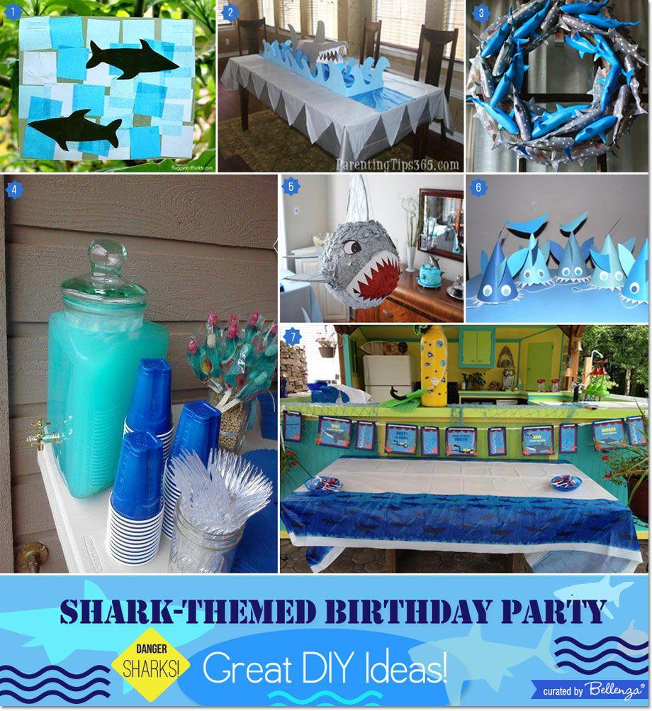 Shark-themed Boy's Birthday Party: Great DIY Ideas