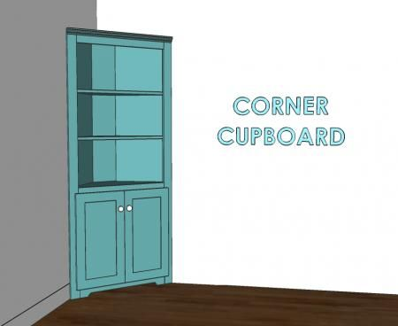 How To Build A Corner Cupboard With Plans Ana White