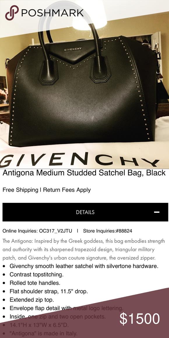Givenchy Antigona Medium Studded Very negotiable! Bought from another  posher faec5b69b6b5c