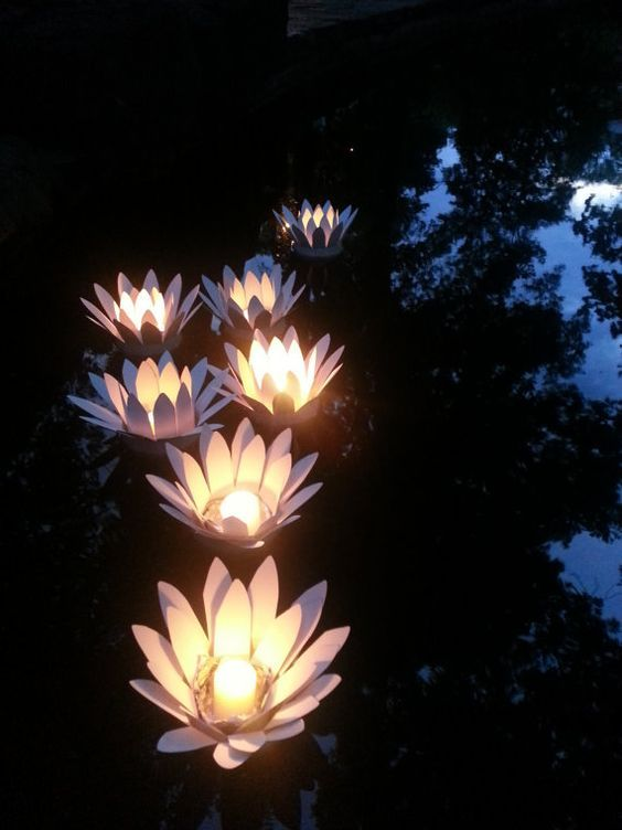 How To Make Lotus Floating Votive Candle By Thewoodlandsprite Pool Candles