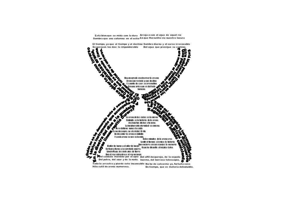 Pedagogía de mi América Latina | reloj de arena - formas con tipografia