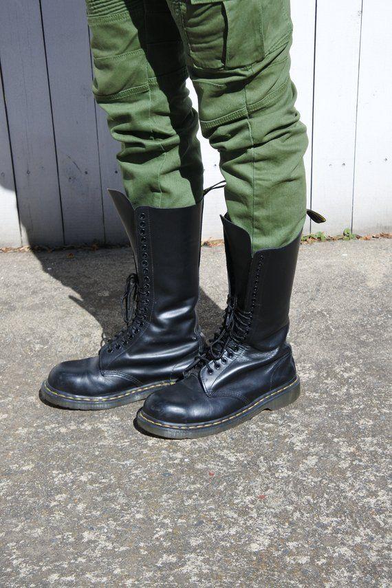 08b9cbeb5b Tall Doc Marten Steel Toe Combat Boots