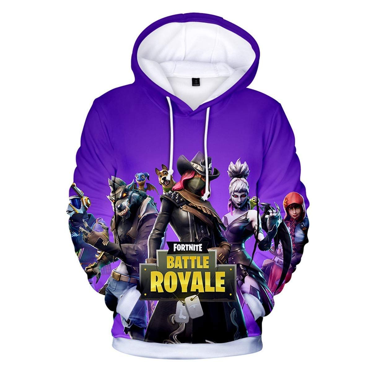 e5dbb7c53429 Amazon.com  Fortnite 3D Hoodie Novelty Youth Game Unisex Classic Sweatshirt  Pullover Pocket