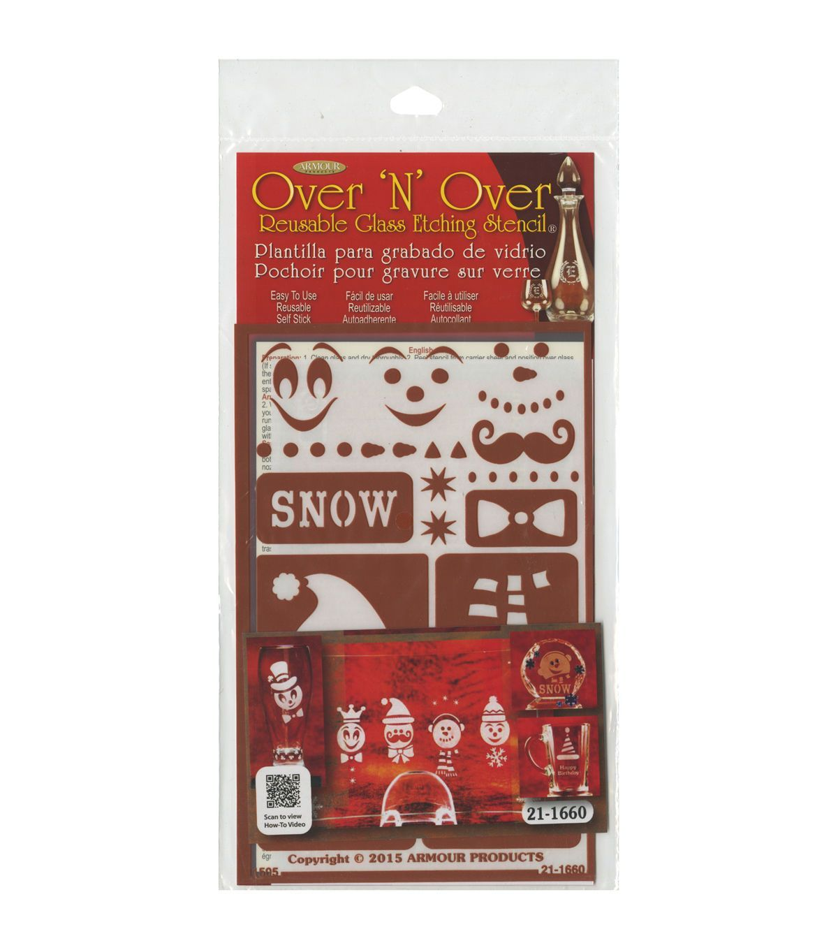 Armour Products Over N Over Reusable Glass Etching Stencil Snow Fun Glass Etching Stencils Glass Etching Snow Fun