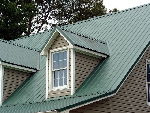 Green Standing Seam Roof House Paint Exterior Exterior House Colors Green Roof House