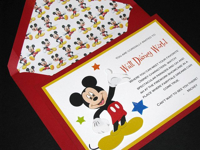 Minnie and Mickey Disney Invitations Vacation and Disney 2015