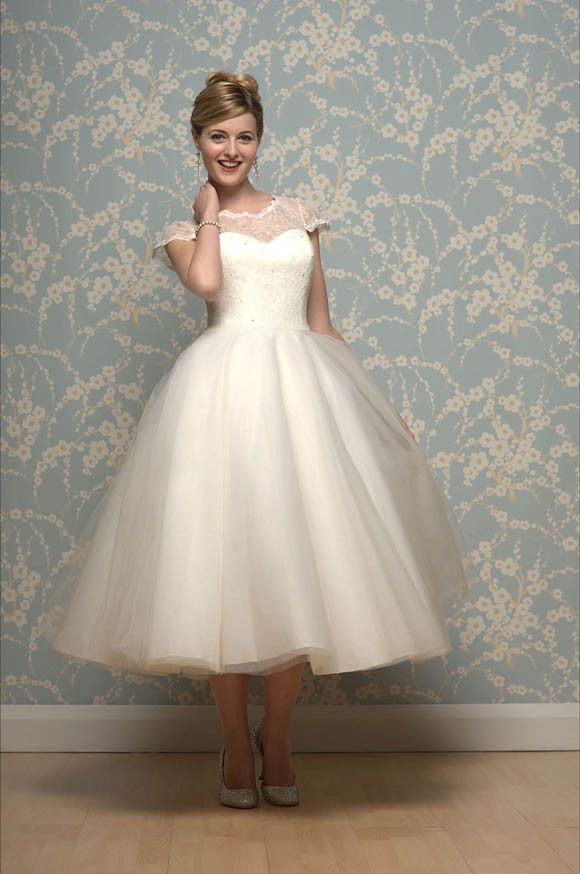 Short Tea Length And 1950s Inspired Wedding Dresses By Cutting Edge Brides
