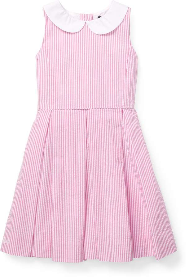 3408f1a3f5 Ralph Lauren Seersucker Fit-and-Flare Dress | Products in 2019 ...
