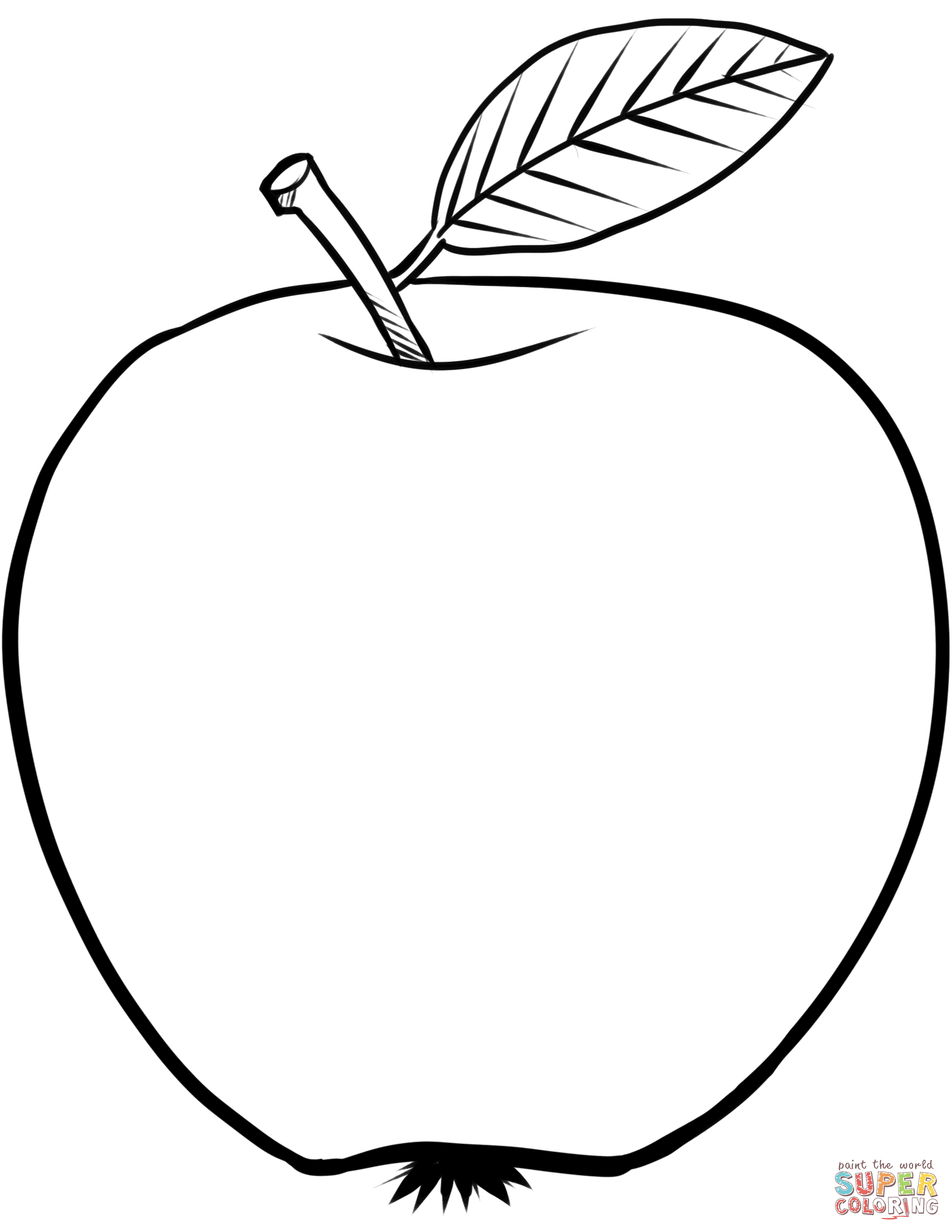apple coloring pages kids - photo#23