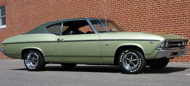 59 G Frost Lime Dark Green Vinyl Top 1969 Chevelle Chevelle Muscle Cars Camaro