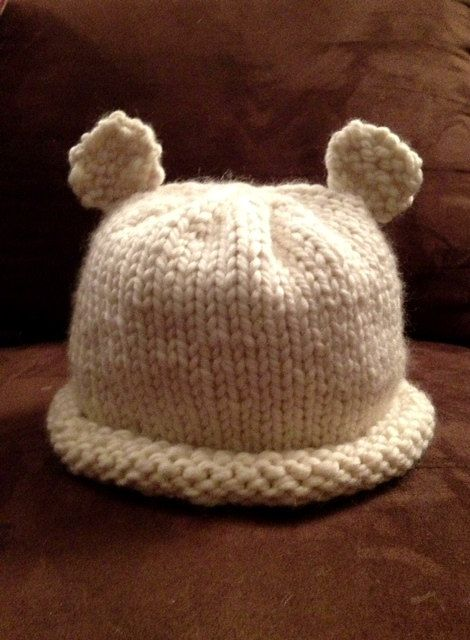 Polar bear hat for adults 9