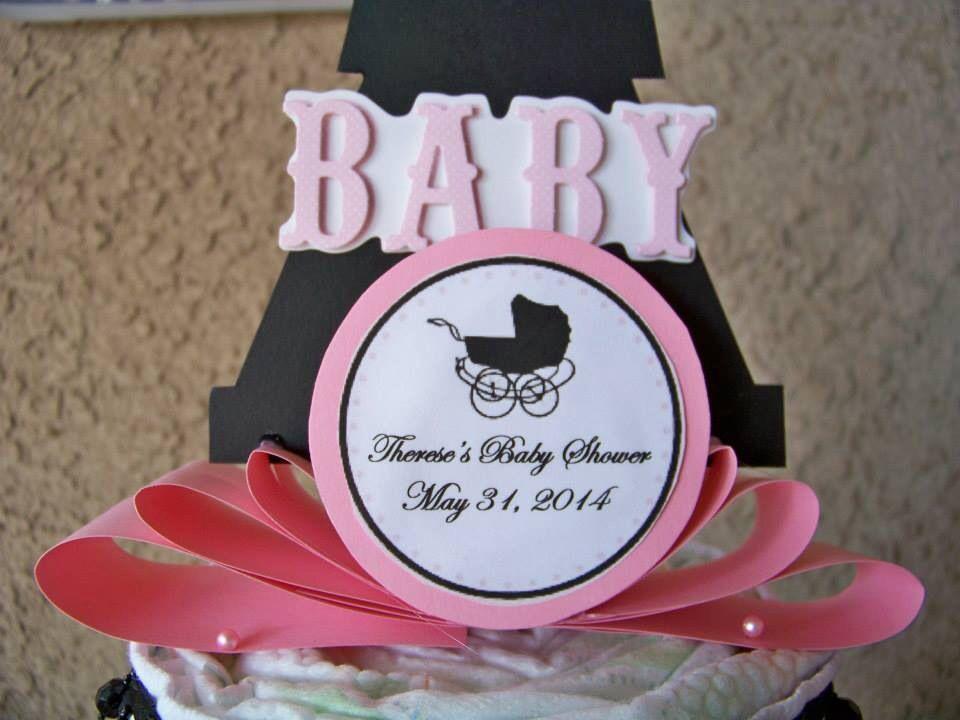 Paris Themed Baby Shower Eiffel Tower Diaper Cake