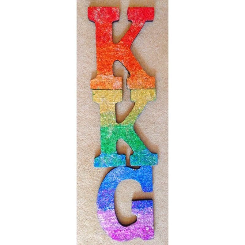 Kappa kappa gamma rainbow ombre glitter letters #kkg #diy #crafts #sorority #biglittle #letters