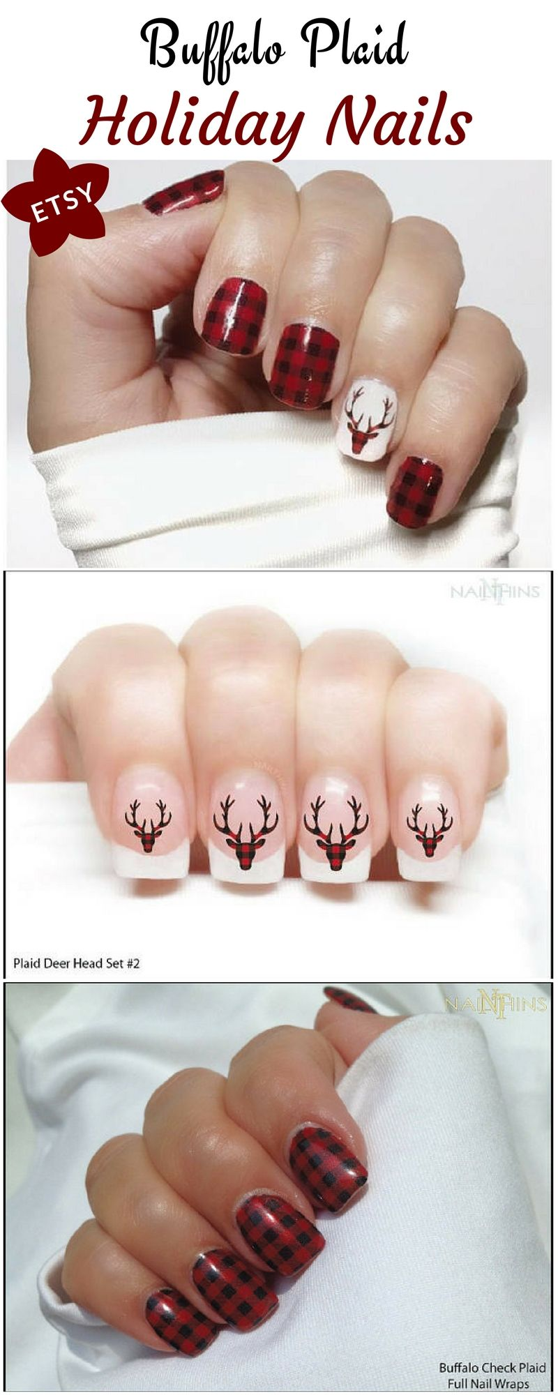 I just love these plaid nail decals i am getting these for the