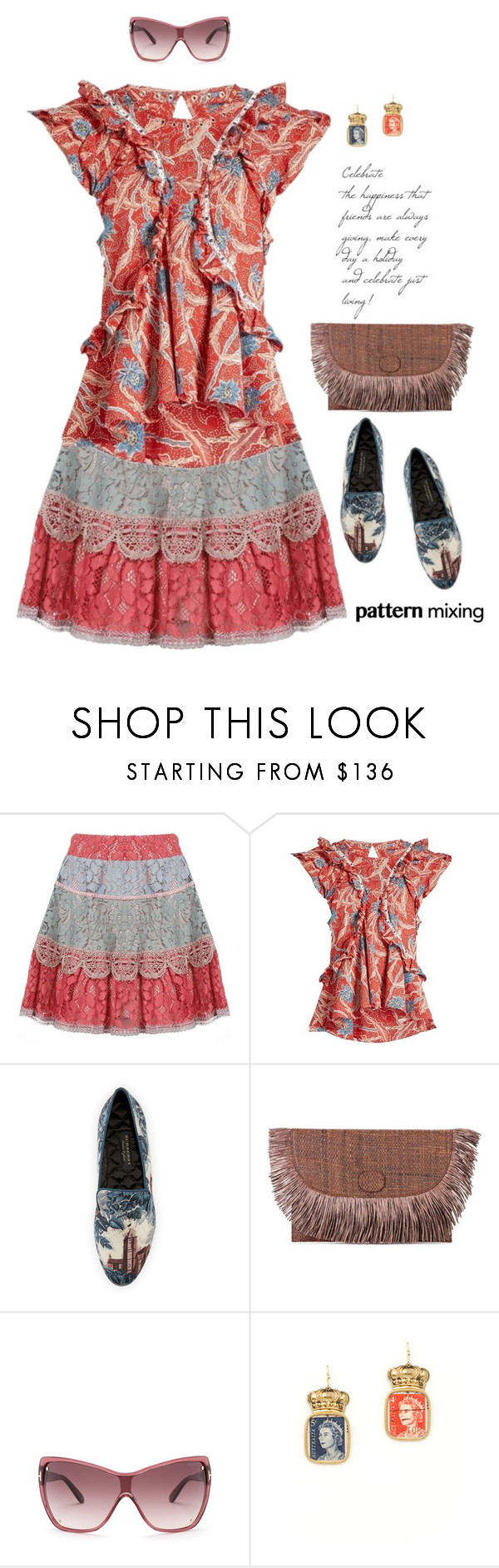 """""""Stay Bold: Pattern Mixing"""" by lence-59 ❤ liked on Polyvore featuring Alexis, Isabel Marant, Burberry, Sanayi 313, Tom Ford, Marquis & Camus and patternmixing"""