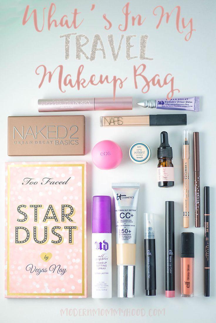 What's In My Travel Makeup Bag Travel makeup, Diy makeup