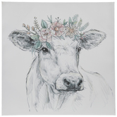 Wall Decor Spring Shop Hobby Lobby Cow Canvas Crown Drawing Cow Sketch