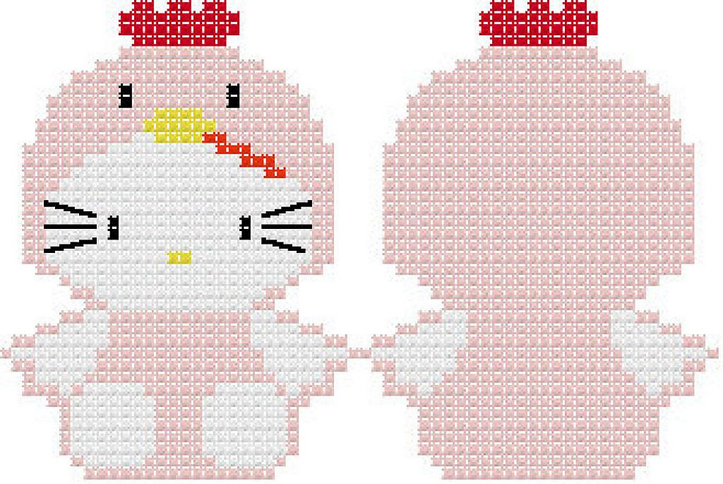 patrones de llaveros a punto de cruz | Hello Kitty Stuff | Pinterest ...