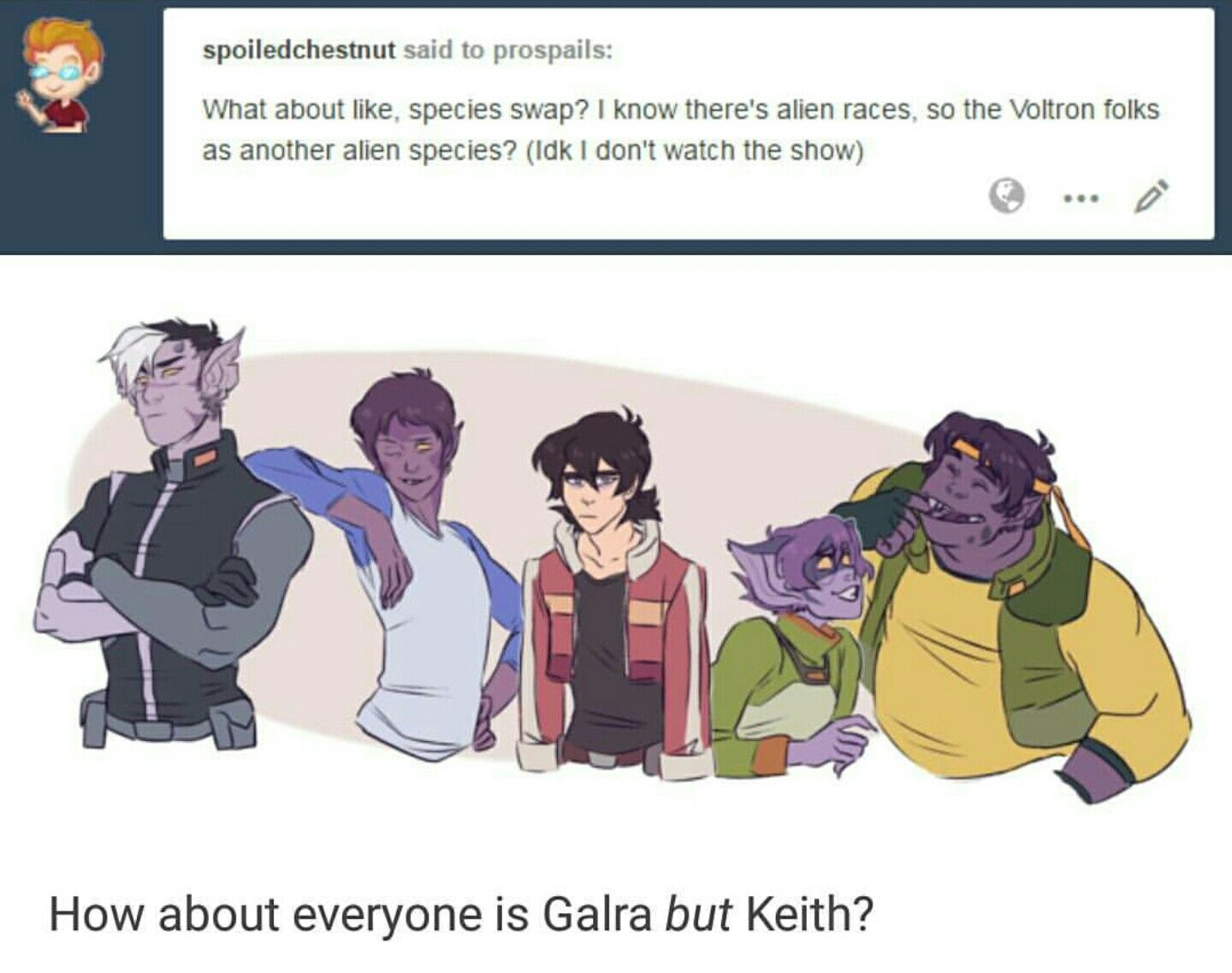 everyone is galra but keith lol