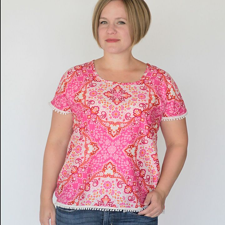 the breezy tee tunic | Blouse tutorial, Free pattern and Tutorials