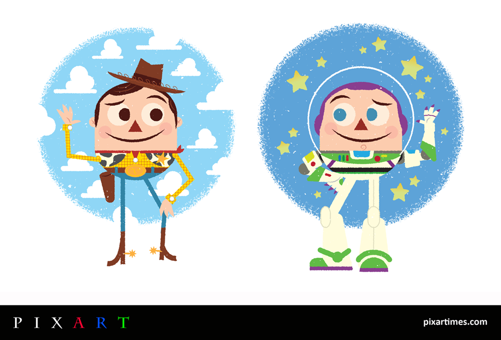 PixArt: August Feature - Woody and Buzz from Jay Rogers @JayroDesign