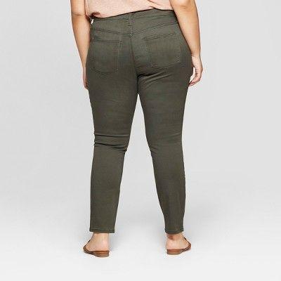 """f07136b7218 Women s Plus Size Utility Skinny Jeans - Universal Threadâ"""" 20Olive 18W   Utility"""