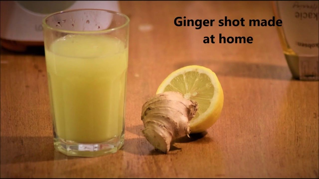 How to Making ginger shot with a blender YouTube in