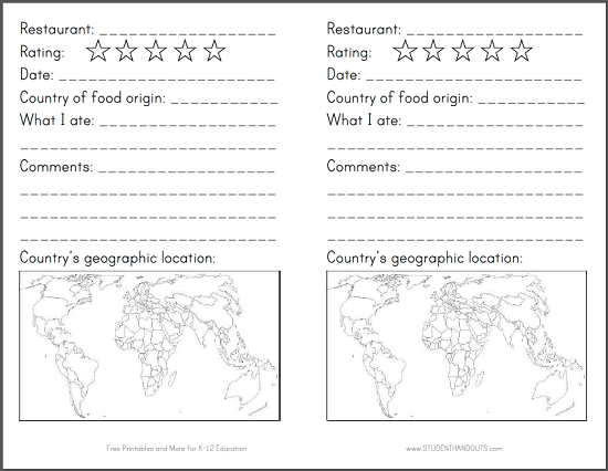 Restaurant passport for kids great fun activity for for Printable passport template for kids