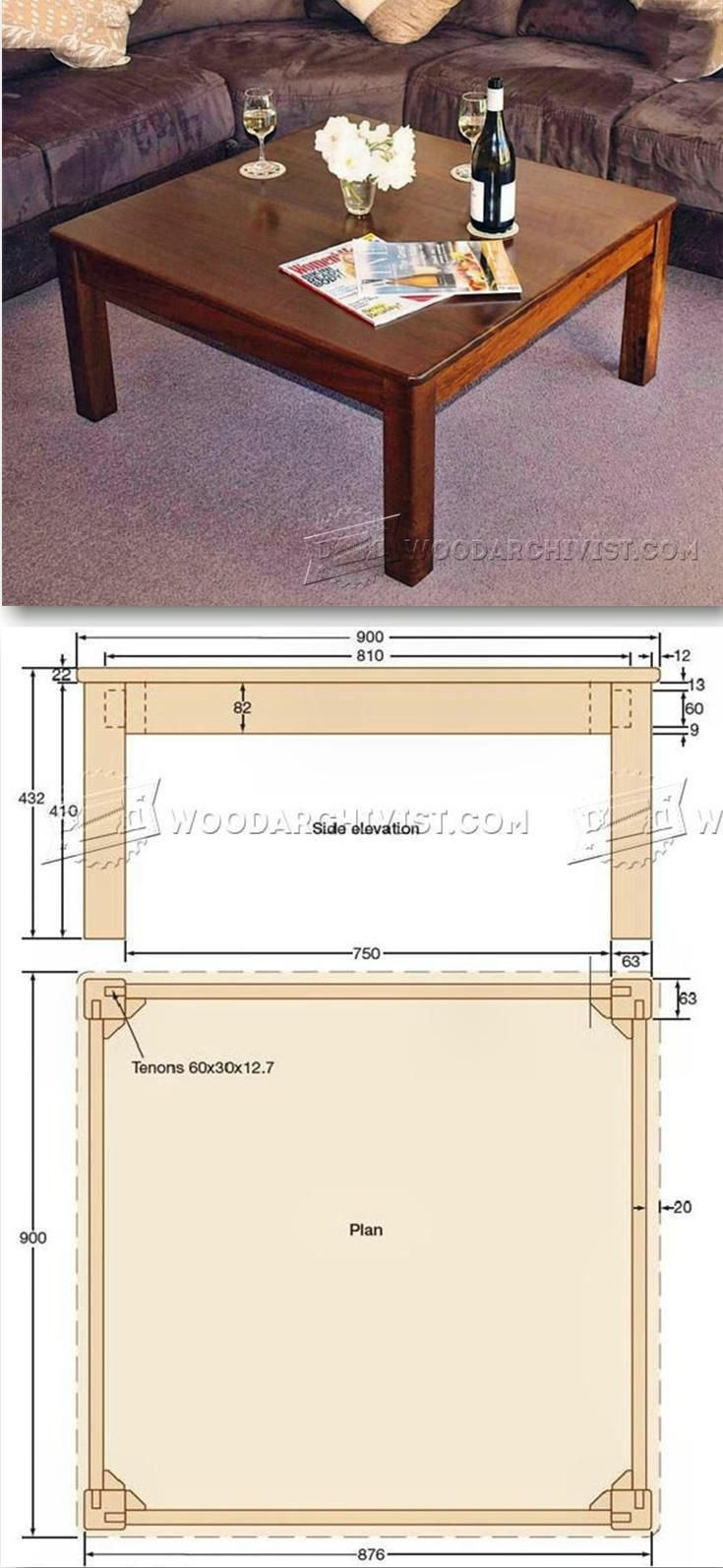Square Coffee Table Plans - Furniture Plans and Projects ...