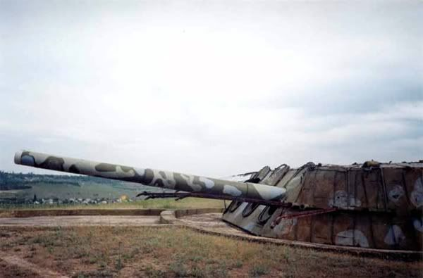 This is very interesting to me. This is one of the 4 main battery 12in turrets from the Russian Battleship Poltava, damaged beyond repair by a fire in 1919. This particular mount saw a good amount of action at Sevastopol during the German Invasion, and was reported to be in service all the way into the 1990's!