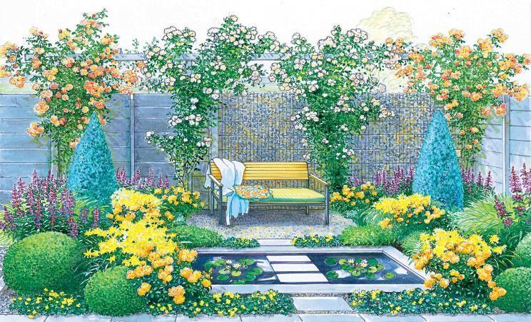 Gestaltungsideen für einen kleinen Reihenhausgarten - reihenhausgarten vorher nachher