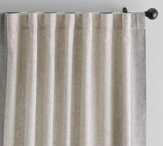 Emery Frame Border Linen Cotton Curtain Oatmeal Gray Decoracao De Cortinas Almofadas Artesanais Cortinas