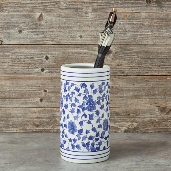 Blue White Ceramic Umbrella Stand In 2020 White 400 x 300