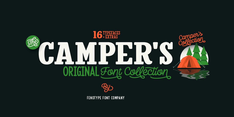 Download Camper™ - Webfont & Desktop font « MyFonts | Download ...
