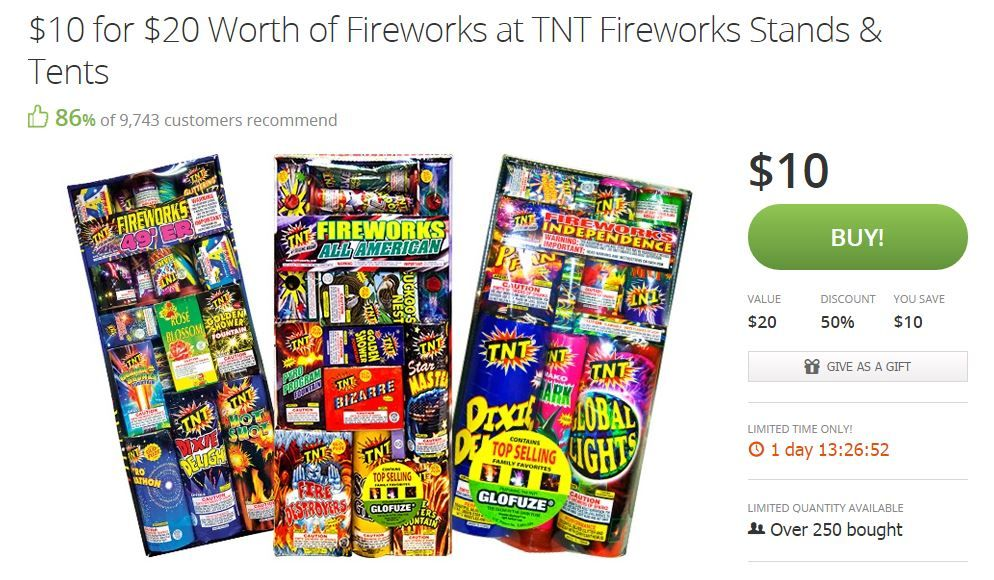 photo about Tnt Fireworks Coupons Printable named A Totally free $10 toward Put in at TNT Fireworks Warm Totally free Deals