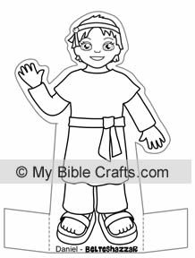 Daniel bible characters to color: Daniel, Daniel's friends