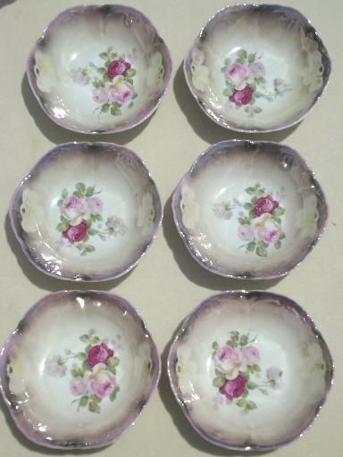 Old Antique Bavaria China Berry Bowls