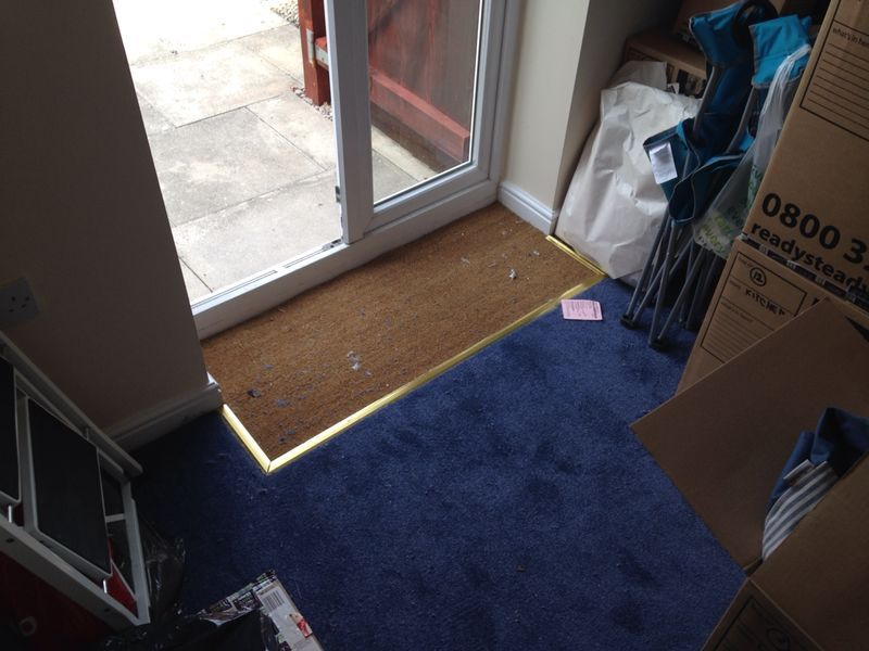 Coir Matting Fitting Into A Hallway In Cheadle Stockport