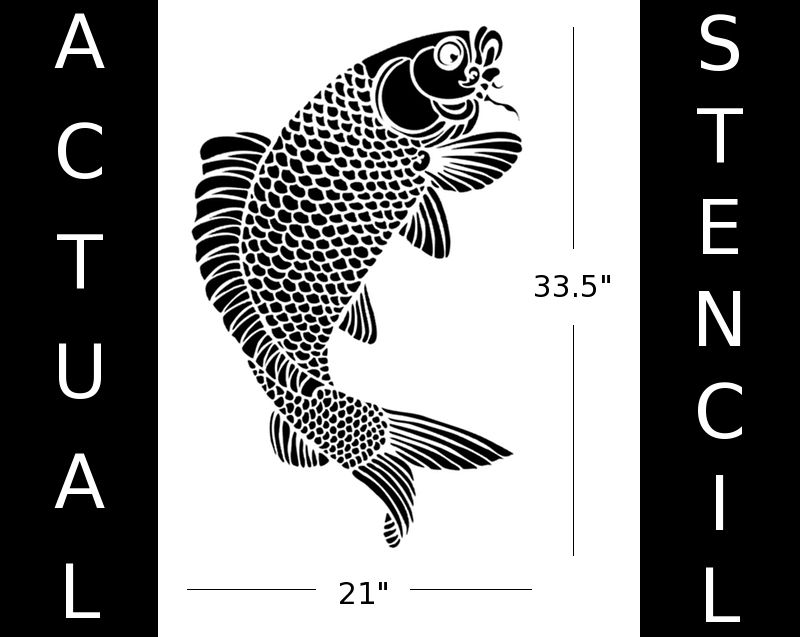Asian koi stencils for painting japanese koi fish for Koi fish stencil