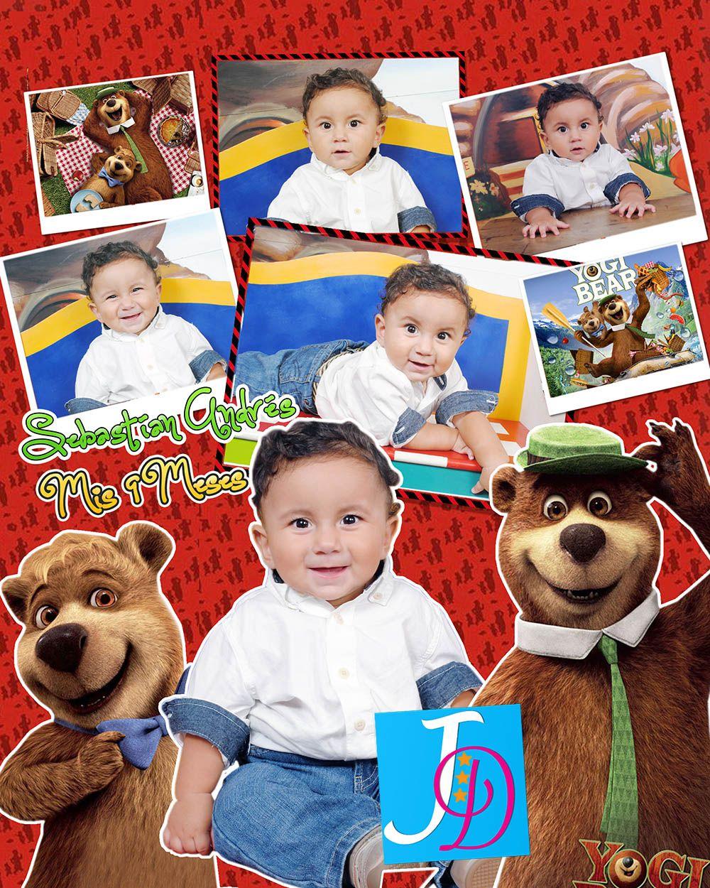 Afiche/Collage Niño Oso Yogui