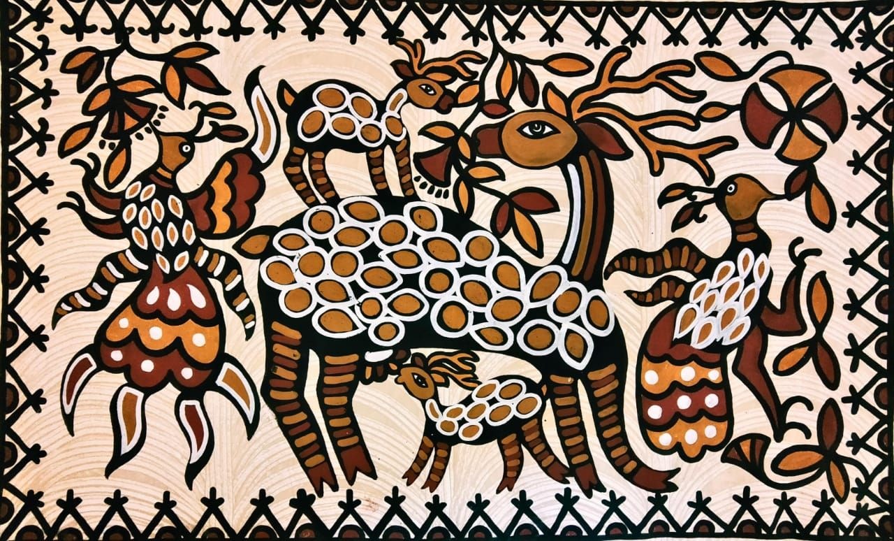 MUST ART GALLERY AN ART UNIVERSE | Art, Indian art paintings, Folk art  painting
