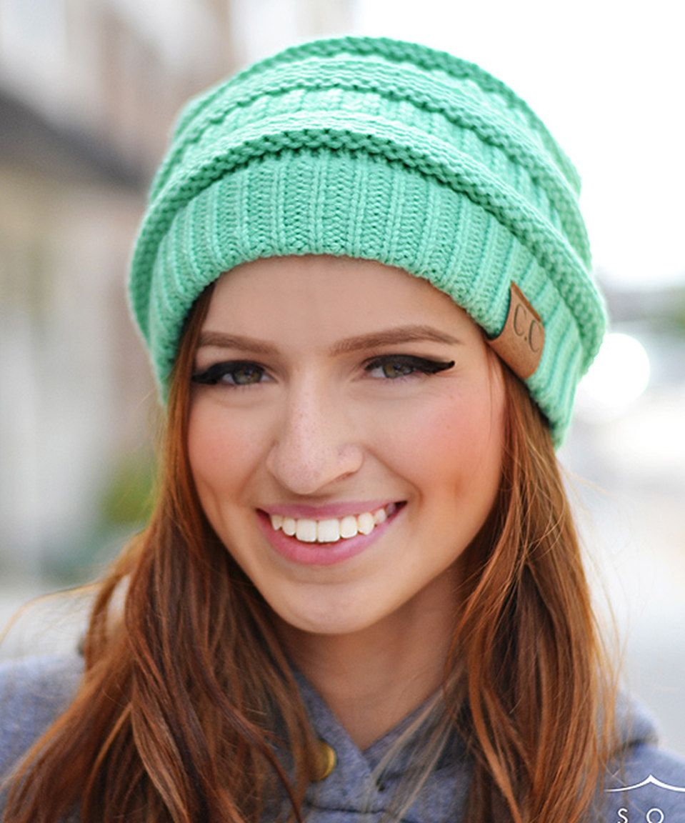 Loving this Sage Ribbed Beanie on #zulily! #zulilyfinds