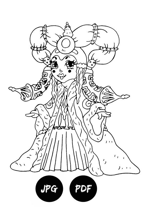 Queen Amidala Coloring Pages Kids Digital Coloring Pages Printable Coloring  Pages Coloring Book Pages Padme Amidala