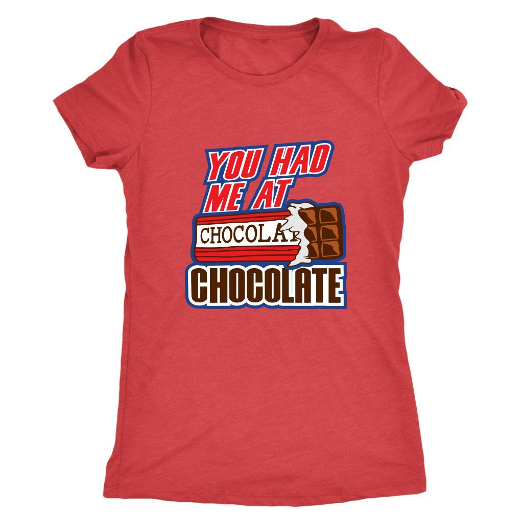 Chocolate Ladies Triblend T-Shirt