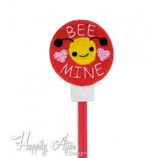 Bee Mine Pencil Topper Embroidery Design