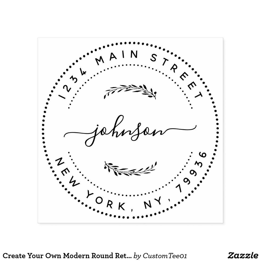 Return Address Rubber Stamp